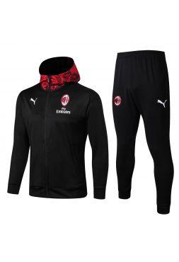 Спортивный костюм красный Милан с черным капюшоном