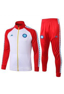 Спортивный костюм бело-красный Наполи с молнией