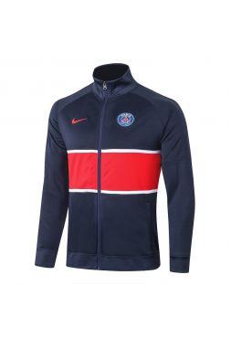 Мужская спортивная олимпийка синяя с красной полосой ФК ПСЖ