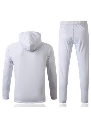 Спортивный костюм белый ПСЖ с капюшоном