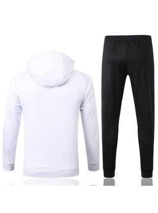Спортивный костюм бело-сине-черный ПСЖ с капюшоном