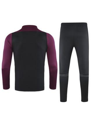 Спортивный костюм черно-бордовый ПСЖ
