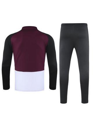 Спортивный костюм черно-бордово-белый ПСЖ