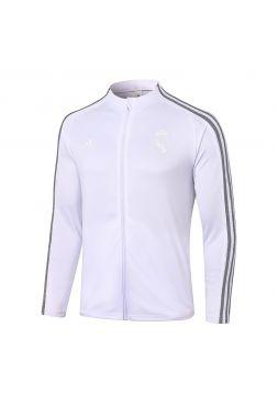 Мужская спортивная олимпийка бело-серая ФК Реал Мадрид