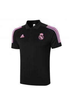 Мужское спортивное поло черно-розовое ФК Реал Мадрид