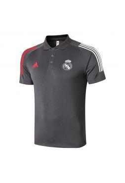 Мужское спортивное поло темно-серое ФК Реал Мадрид