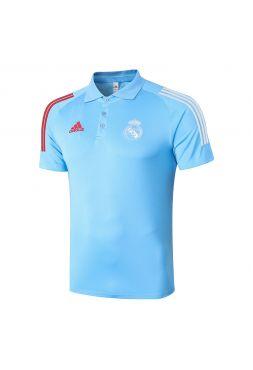 Мужское спортивное поло голубое ФК Реал Мадрид