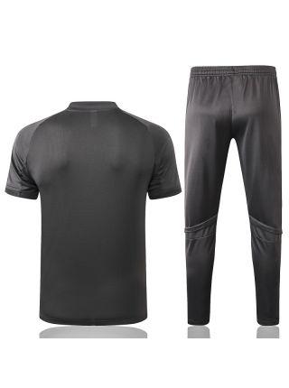 Мужской тренировочный костюм серый ФК Реал Мадрид