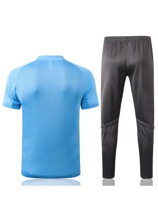 Мужской тренировочный костюм голубо-серый ФК Реал Мадрид