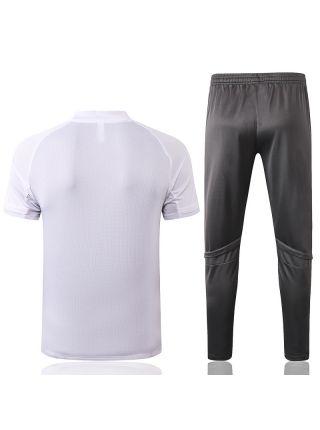 Мужской тренировочный костюм серо-белый ФК Реал Мадрид