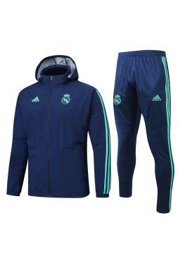 Спортивный костюм синий Реал Мадрид с капюшоном