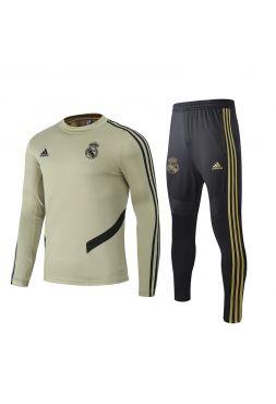 Спортивный костюм бежево-черный Реал Мадрид