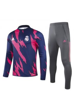 Спортивный костюм сине-розово-серый Реал Мадрид