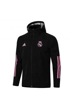 Мужская спортивная ветровка черно-розовая ФК Реал Мадрид