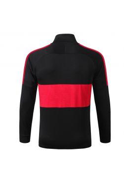 Мужская спортивная олимпийка черная с красной полосой ФК Рома