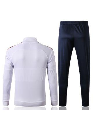 Спортивный костюм бело-черный Рома с молнией