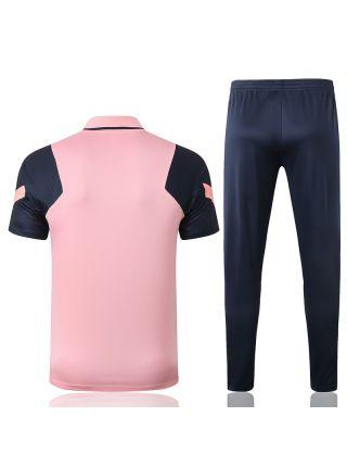 Мужской тренировочный костюм розово-синий ФК Тоттенхэм Хотспур с поло