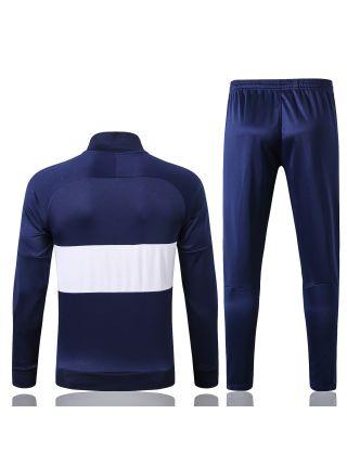 Спортивный костюм темно-синий с белыми полосами Тоттенхэм Хотспур с молнией
