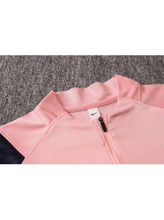 Спортивный костюм розовый Тоттенхэм Хотспур с черными рукавами