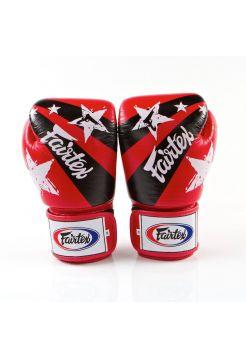 Боксерские перчатки FAIRTEX BGV1 красные со звездами