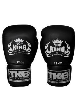 Боксерские перчатки Top King KPBGV-211 черные на липучке
