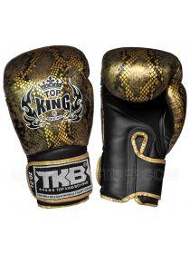 Боксерские перчатки Top King Velcro Fancy Snake черно-золотые