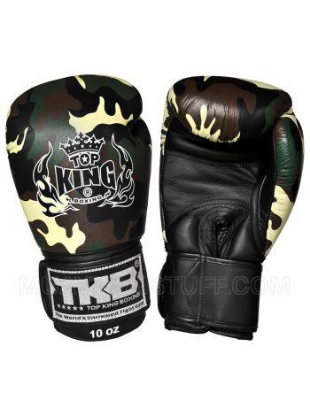 Боксерские перчатки Top King Green Camouflage камуфляжной расцветки