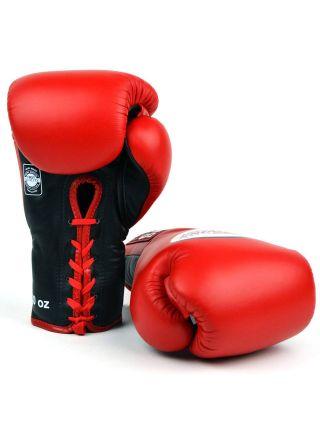 Боксерские перчатки TWINS BGLL-1 красные на шнурках
