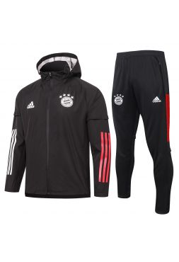 Спортивный костюм черный Бавария Мюнхен с капюшоном