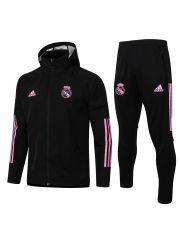 Спортивный костюм бело-розовый Реал Мадрид с капюшоном