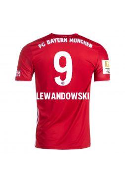 Футболка домашняяБавария Мюнхен 2020-2021 Lewandowski 9 (Левандовски)