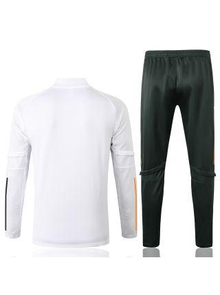 Спортивный костюм бело-черный Манчестер Юнайтед с молнией