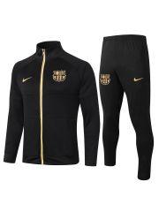 Спортивный костюм черно-желтый Барселона с молнией