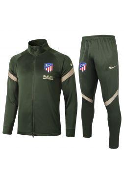 Спортивный костюм зеленый Атлетико Мадрид с молнией