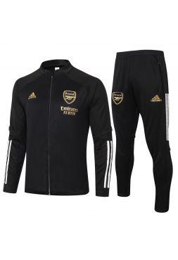 Спортивный костюм черный Арсенал с молнией