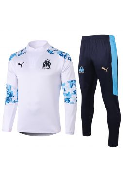 Спортивный костюм бело-синий Олимпик Марсель