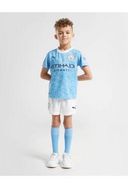 Футбольная форма детская домашняя Манчестер Сити 2020-2021
