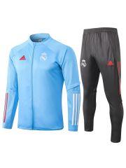 Спортивный костюм светло-сине-черный Реал Мадрид с молнией
