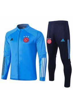 Спортивный костюм голубо-синий Аякс с молнией