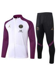 Спортивный костюм бело-фиолетово-черный ПСЖ с молнией