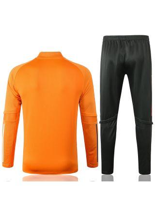 Спортивный костюм оранжево-черный Манчестер Юнайтед с молнией