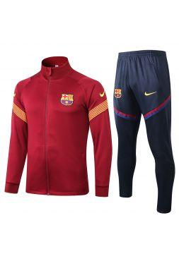 Спортивный костюм красно-черный Барселона с молнией