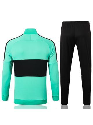 Спортивный костюм черно-зеленый Ливерпуль с молнией