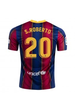 Футболка домашняя Барселоны 2020-2021 S Roberto 20 (Роберто)