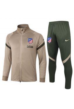 Спортивный костюм бронзово-зеленый Атлетико Мадрид с молнией