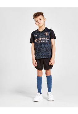 Футбольная форма детская гостевая Манчестер Сити 2020-2021