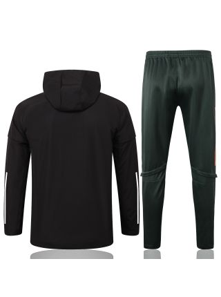 Спортивный костюм черно-зеленый Манчестер Юнайтед с капюшоном
