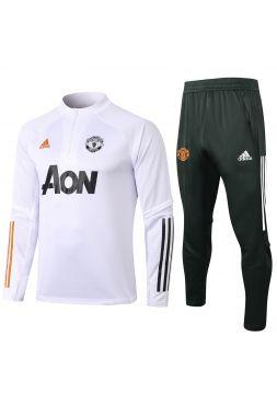 Спортивный костюм бело-черный Манчестер Юнайтед