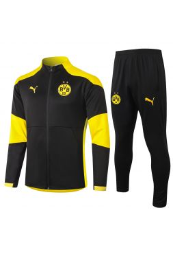 Спортивный костюм черно-желтый Боруссии Дортмунд с молнией