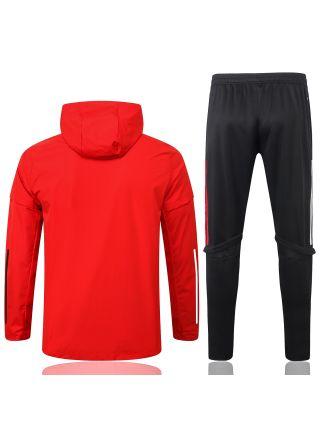 Спортивный костюм красно-черный Манчестер Юнайтед с капюшоном